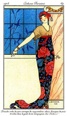 1913 Journal des Dames et des Modes - Georges Barbier