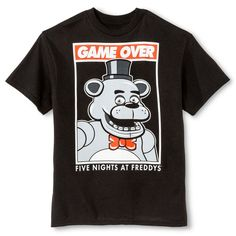 5 Nights at Freddy's Boys' Game Over Graphic Tee