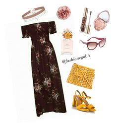 """""""floral maroon"""" by lightbird on Polyvore featuring Fratelli Karida, Chloé, Cara, Too Faced Cosmetics, Kate Spade, Miss Selfridge and Marc Jacobs"""