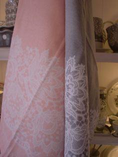 GreenGate Teatowels Liva Pink & Warm Grey
