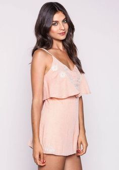 Meadow Embroidered Ruffle Romper - LoveCulture.com