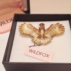 {Wildfox}  NWT 10K Oversized Owl Ring Absolutely beautiful oversized ring from Wildfox Couture. Features Swarovski crystals and a heavy base. Comes with the box and jewelry bag. Offers always welcome! Wildfox Jewelry Rings