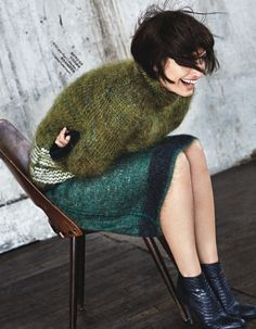 Caroline De Maigret | ELLE China September 2014 (Photography: Yuangui Mei) Amazing sweater, try this one at Videdressing http://www.videdressing.com/pulls/dries-van-noten/p-3244461.html?utm_source=pinterest_post&utm_medium=social_network&utm_campaign=EN_sweater_09012915