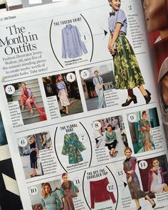 """The thing I was so cruel to tease about on Saturday!! I was lucky enough to be asked to do @glamourmag 's """"Month in Outfits"""" feature where I styled 29 looks around 6 different pieces! Thank you @lcchan for pitching me for this! (On newsstands now!!) 's by the awesome @lesliekirch by jennymwalton"""