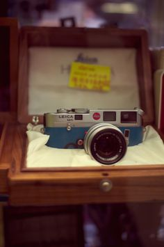 a vintage leica for the photographer in your life.
