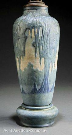 Newcomb College Art Pottery Matte Glaze Lamp