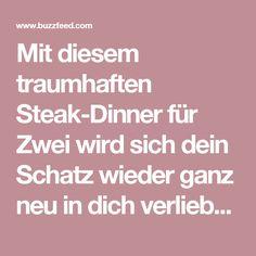 Mit diesem traumhaften Steak-Dinner für Zwei wird sich dein Schatz wieder ganz neu in dich verlieben