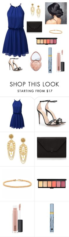 """""""Diana Prince at the Gala!❤️💙💛"""" by merilove ❤ liked on Polyvore featuring Gucci, Dolce&Gabbana, Valextra, Peermont, MAC Cosmetics, Estée Lauder and Too Faced Cosmetics"""