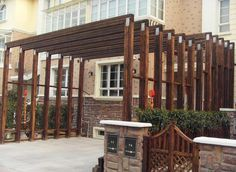 Environmentally friendly wood plastic outdoor plant rack