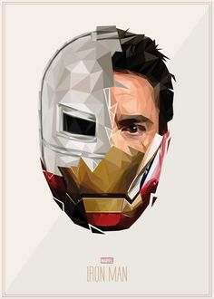 Designer Uses Geometric Shapes To Form Striking Portraits Of Iconic Superheroes - DesignTAXI.com