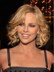 Charlize Theron with Curly Bob Hairstyle