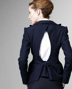 Clothes With Holes: Junya Watanabe Keyhole Pinstripe Jacket >> The ... Flipping gorgeous
