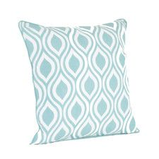 Teardrop Design Printed Throw Pillow