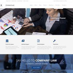 CompanyLaw Lawyer Attorney WordPress Theme
