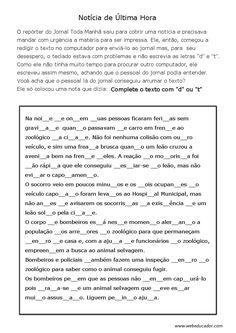ortografia - d ou t - completar
