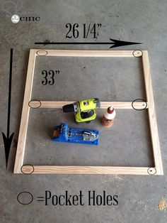 Our friends at Shanty-2-Chic.com use their Kreg Jig® to build wood frames for DIY projects.