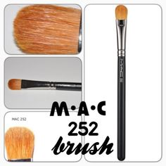 MAC 252 Large Shader Brush A soft but firm brush for shading with powder or emollient-based products. The brush has soft, firm synthetic fibres arranged in a paddle shape with a wood handle and nickel-plated brass ferrules. This is a larger version of the 243. Brand new in cellophane wrap. Never opened or used. 100% Authentic. No trades. ✨Notice: All products are free from any detectable defects by me unless otherwise stated. All products are sold as is & without refunds or returns.✨ MAC…