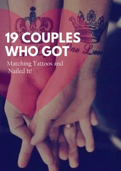 """19 Couples Who Got """"Matching"""" Tattoos and Nailed It"""