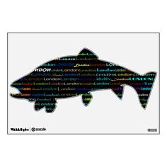 London Text Design I Wall Decal Trout