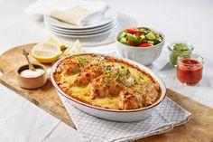Spennende kyllinggryte, perfekt både til hverdags og helg. Gode smaker av tomatsalsa, koriander, bønner og Port Salut.
