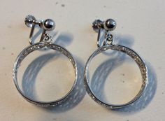 Sterling Silver Clip On Hoop Earrings with by vintagerepublic1, $21.00