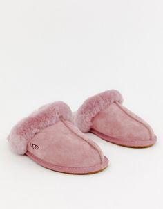 086c3c0236049f UGG Scuffette II Dark Pink Suede Slippers. image.AlternateText