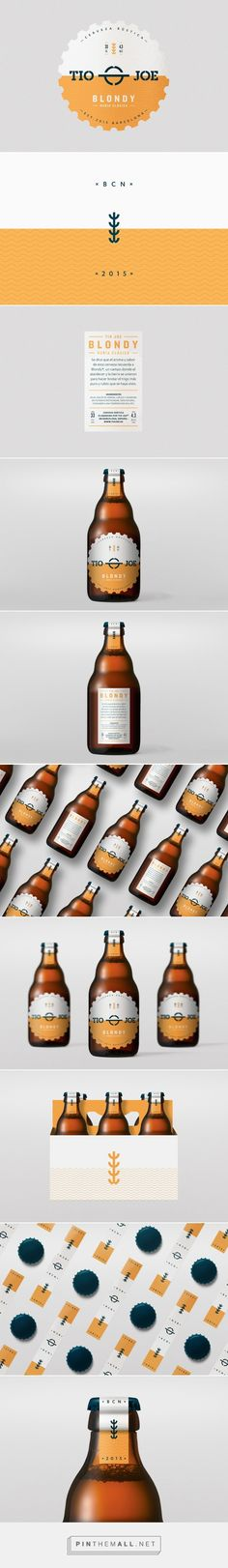 Blondy Beer packaging design by Diferente (Spain) - http://www.packagingoftheworld.com/2016/04/blondy.html