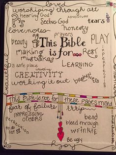 Permission page - For my journaling bible, so I can squelch the perfectionist in me!