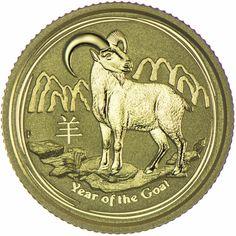 Ziege 1/10 Unze Gold 2015, AUD 15  9999/1000