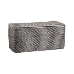 Sale ends soon. Shop Sedona Grey Bathroom Trash Can. Our tapered Sedona wastebasket takes care of the trash with loads of texture, handwoven of sturdy rattan and finished in warm grey. Due to its handcrafted nature, each trash can will be slightly unique. Crate And Barrel, Potato Storage, Grey Baths, Gray Vanity, Rounded Rectangle, Vanity Tray, Warm Grey, Tissue Box Covers, Covered Boxes