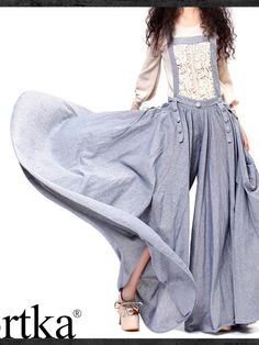 pendulum skirt denim pants / overalls