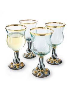 McKenzie Child's Tango water glass. glassware $62.00 each