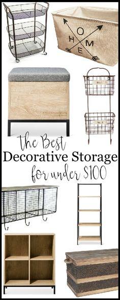 The Best Decorative Storage Solutions under $100