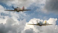 Hawker Sea Hurricane and Hawker Hurricane Flying together at Shuttleworth - Hawker Sea Hurricane 1B Z7015 and Hawker Hurricane R4118 Flying together at Shuttleworth 2017. I think this is one of my personal favourites. Sony A99MKii, Sony 70-400mm, iso 100, 1/200th, F5.6.