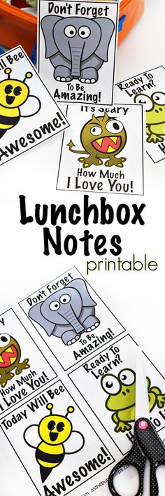 Time for Back to School! Surprise your kids with these fun, free Lunchbox Notes Printables