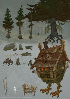 Forest location objects by Hellstern.deviantart.com on @deviantART baba yaga allods