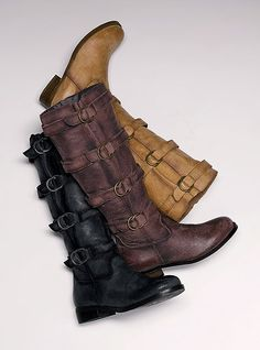 I think I found my first pair of 2011 boots! @Erin Almeida-Eberhardt...I can't decide between the two browns, but I am leaning towards the lighter. What do you think?