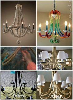 77 best diy chandelier inspiration images on pinterest 16 genius diy lamps and chandeliers to brighten up your home aloadofball Gallery
