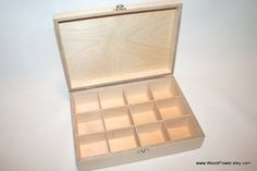 Wooden Box  for DIY Projects/ Unfinished Wooden Box by WoodPower, $27.00