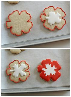 Creative Hibiscus Cookies – The Sweet Adventures of Sugar Belle Hawaiian Cookies, Luau Cookies, Summer Cookies, Fancy Cookies, Iced Cookies, Royal Icing Cookies, Birthday Cookies, Heart Cookies, Valentine Cookies