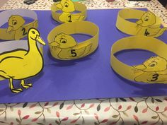 Hats to accompany the story board of 5 little ducks. Little Duck, Early Childhood, Ducks, Coasters, Foundation, Projects To Try, Hats, Board, Room