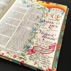 Illustrated faith, documented faith, Illuminated journaling by zennyart on Instagram.