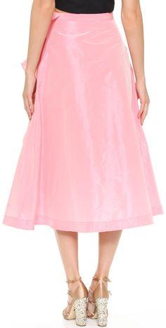 Tome Taffeta A Line Skirt with Ruffle | SHOPBOP