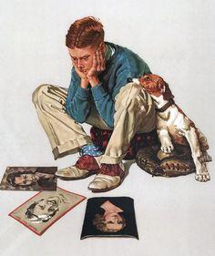 New funny illustration art norman rockwell Ideas Art And Illustration, Illustrations, Norman Rockwell Prints, Norman Rockwell Paintings, Render People, Art Anime, Arte Pop, Ghibli, American Artists