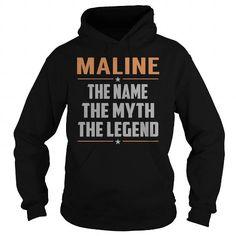 I Love MALINE The Myth, Legend - Last Name, Surname T-Shirt Shirts & Tees