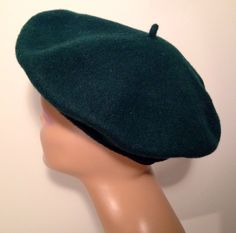 Vintage Green Beret Picasso Dali artist Wool French Basque Hat Made in France…