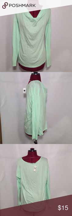 """Gap cowl neck tee size medium Mint colored cowl neck top. New.  Underarm to underarm is approx 21"""", length is approx 24"""".  Cotton/modal blend GAP Tops"""