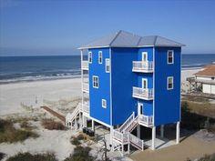 Big Blue House on Cape San Blas.
