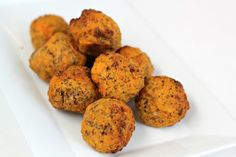 These Paleo Sausage Balls are the perfect appetizer or great with a side of eggs for breakfast.