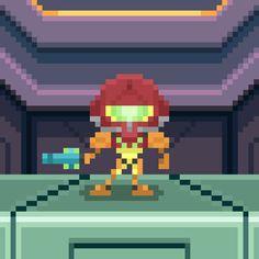Samus Aran from Metroid Videogames #samus #samusaran #aran #sammy #metroid #metroidprime #supermetroid #videogames #videogame #nintendo #nes #snes #cute #awesome #bountyhunter #intergalactic #instavideogames #instagood #instapic #instamood #instagame #instaretro #pixel #pixelart #16bit #theoluk